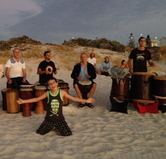 full moon drumming fremantle western australia
