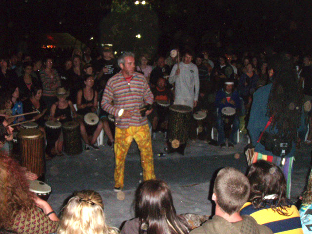 southbound drum circle night