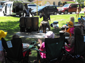children's birthday party idea drum circle