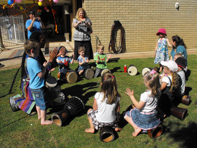 childrens party drum circle